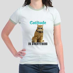 Catitude Jr. Ringer T-Shirt