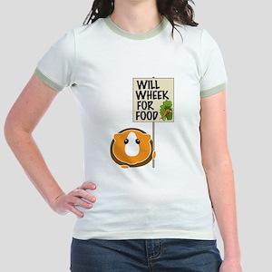 Will Wheek for Food Jr. Ringer T-Shirt