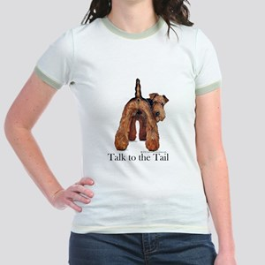 Airedale Terrier Talk Jr. Ringer T-Shirt