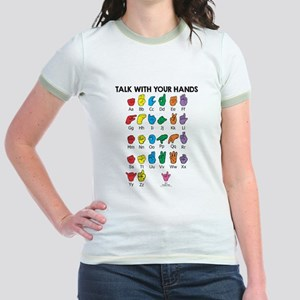 Learn Sign Language Jr. Ringer T-Shirt