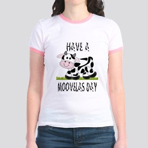 Cute Cow Moovalas day Jr. Ringer T-Shirt