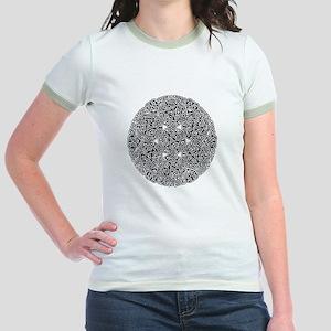 Knotwork Circle Celtic Jr. Ringer T-Shirt