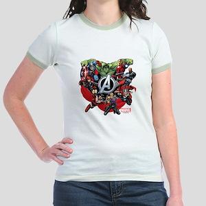 Avengers Group Jr. Ringer T-Shirt