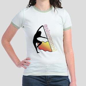 Colorguard Flag Jr. Ringer T-Shirt