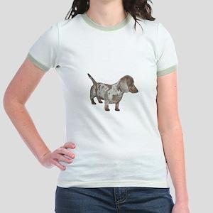 Speckled Dachshund Dog Jr. Ringer T-Shirt