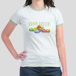 Happy Easter Jr. Ringer T-Shirt