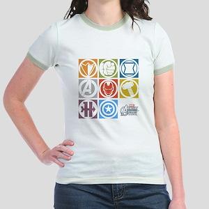 Avengers Squares Jr. Ringer T-Shirt