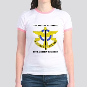 DUI - 2-10th Aviation Regiment  Jr. Ringer T-Shirt