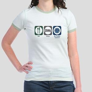 Eat Sleep Air Traffic Control Jr. Ringer T-Shirt