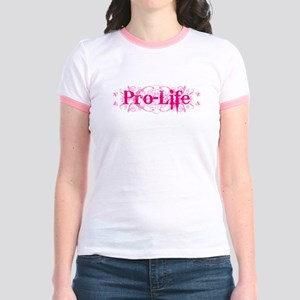 Pro-Life (pink) Jr. Ringer T-Shirt