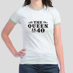 The Queen is 40 Jr. Ringer T-Shirt