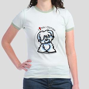 Love my Coton Jr. Ringer T-Shirt