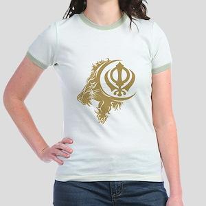 Singh Sikh Symbol 1 Jr. Ringer T-Shirt