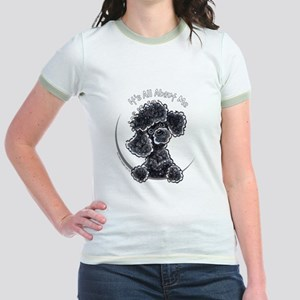Black Poodle IAAM Full Jr. Ringer T-Shirt