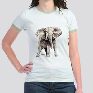 Elephant Animal Jr. Ringer T-Shirt