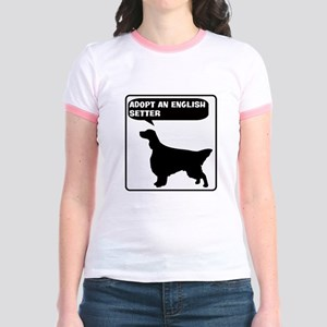 Adopt a English Setter Jr. Ringer T-Shirt
