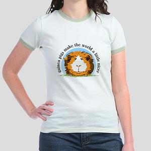 Guinea pigs make the world... Jr. Ringer T-Shirt