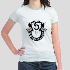5th Special Forces - DUI - No T Jr. Ringer T-Shirt
