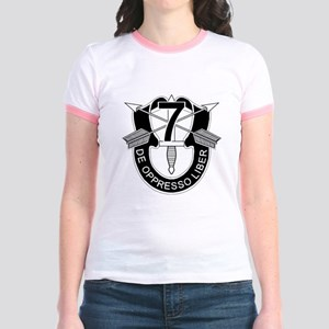 7th Special Forces - DUI - No T Jr. Ringer T-Shirt