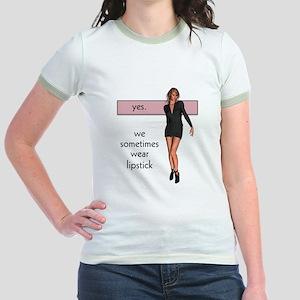 Lipstick/Femme Lesbian Jr. Ringer T-Shirt