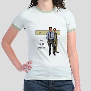 Gay Christian Jr. Ringer T-Shirt