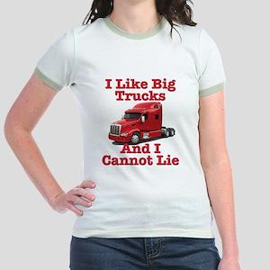 I Like Big Trucks Peterbilt Jr. Ringer T-Shirt