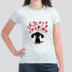 Cute Dachshund Jr. Ringer T-Shirt