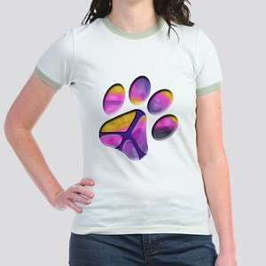 Peaceful Paw Print Jr. Ringer T-Shirt