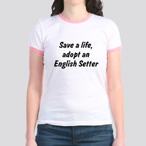 Adopt English Setter Jr. Ringer T-Shirt