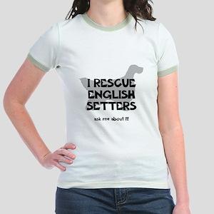 I RESCUE English Setters Jr. Ringer T-Shirt