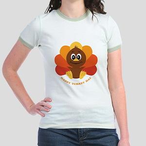 Happy Turkey Day Jr. Ringer T-Shirt