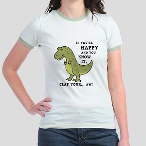 T-Rex Clap II Jr. Ringer T-Shirt