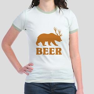 Bear+Deer=Beer Jr. Ringer T-Shirt