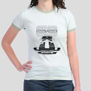 Camaro Black 1969 Jr. Ringer T-Shirt