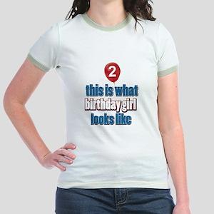 2 year old birthday girl designs Jr. Ringer T-Shir