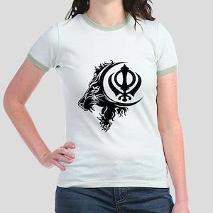 Singh Aum 1 Jr. Ringer T-Shirt