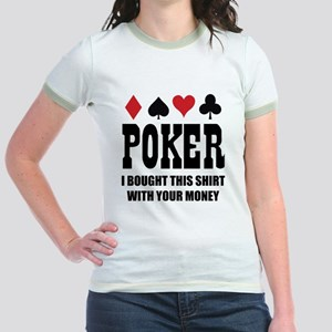 pokermoneyX1 Jr. Ringer T-Shirt