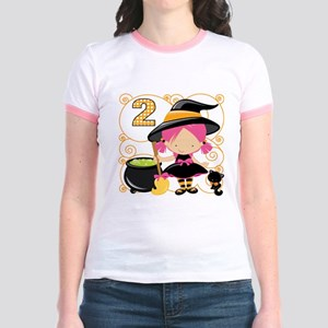Girls Halloween 2 Jr. Ringer T-Shirt