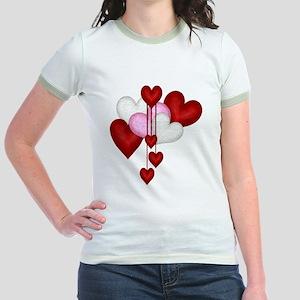 Romantic Hearts Jr. Ringer T-Shirt