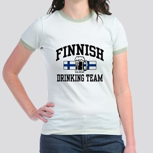 Finnish Drinking Team Jr. Ringer T-Shirt