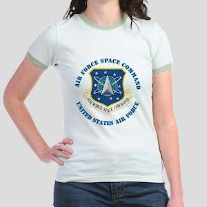 Air-Force-Space-Cmdwtxt Jr. Ringer T-Shirt