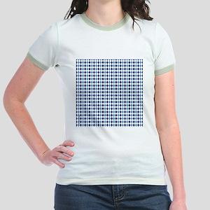 UNC Argyle Carolina Blue Tarhee Jr. Ringer T-Shirt