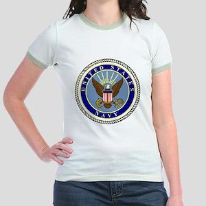 Navy-Logo-9 Jr. Ringer T-Shirt