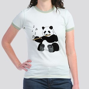 cafepress panda1 Jr. Ringer T-Shirt
