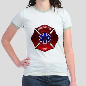 FIREFIGHTER-EMT Jr. Ringer T-Shirt