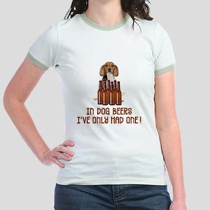 In Dog Beers ... Jr. Ringer T-Shirt