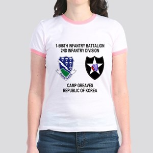 2-Army-506th-Infantry-Korea-Shi Jr. Ringer T-Shirt