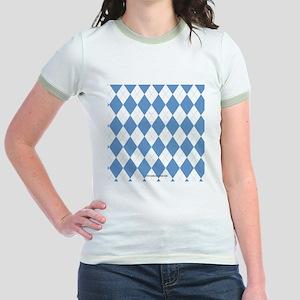 UNC Carolina Blue Argle Basketb Jr. Ringer T-Shirt
