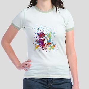 Color Splash Tennis Tshirt Jr. Ringer T-Shirt