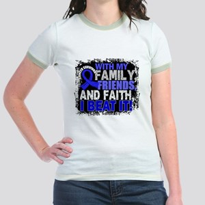 Colon Cancer Survivor FamilyFri Jr. Ringer T-Shirt